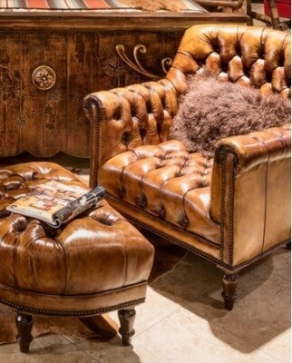 Custom Made Wingley Sofa + Ottoman