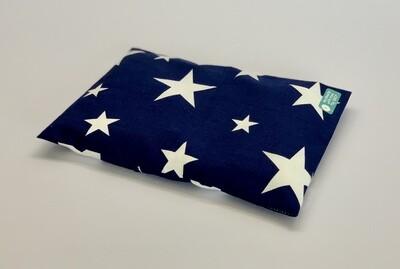 Kissen - Blau, weiße Sterne