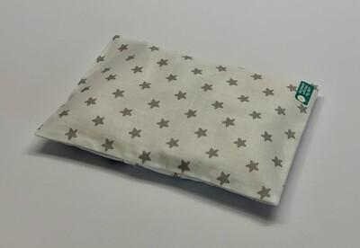 Kissen - Weiß, graue Sterne