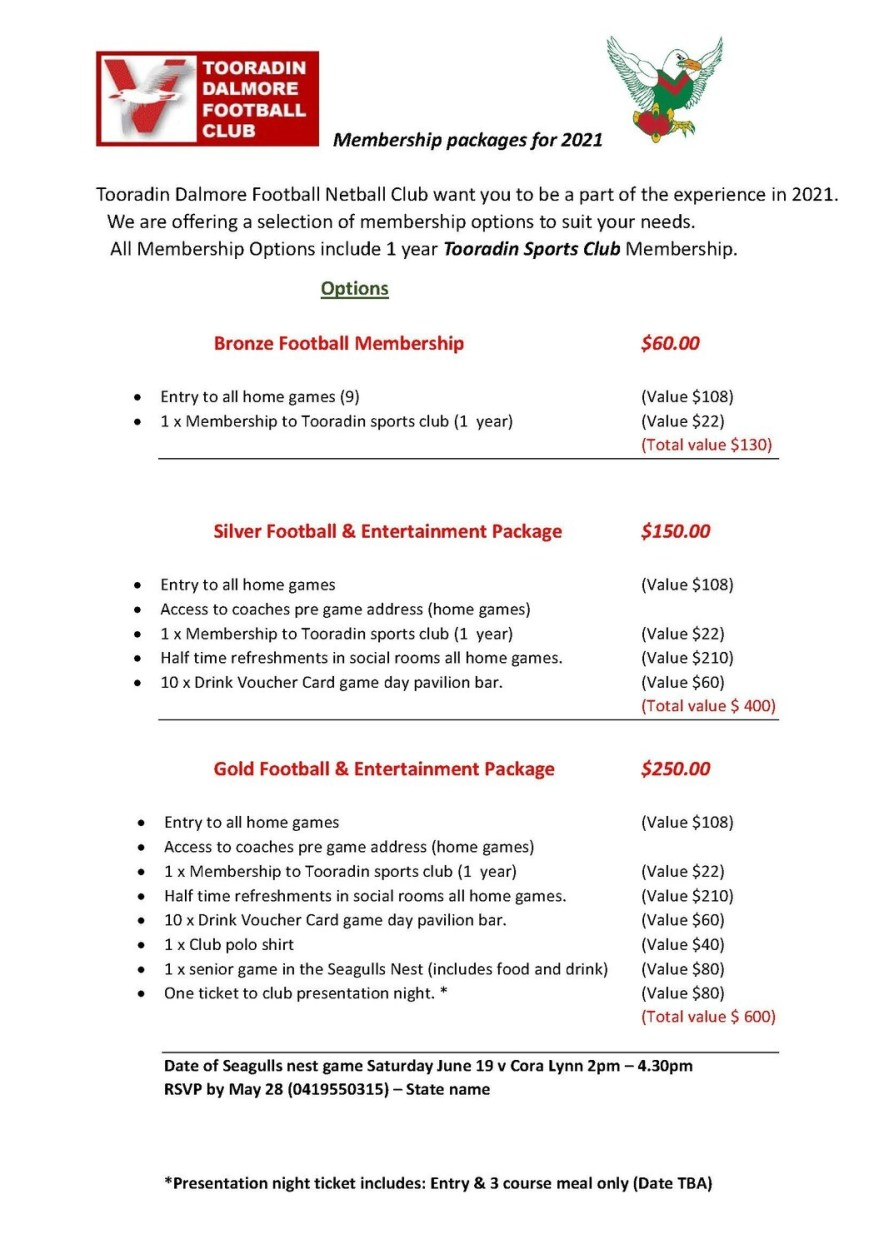 Gold Football & Entertainment Package
