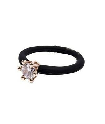 Solitare ring, Fashionable italian ring Mini, Le Corone