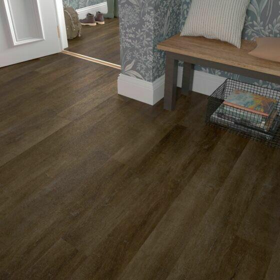 Walnut ClicLux Flooring LVT 121.9 x 17.7 cm