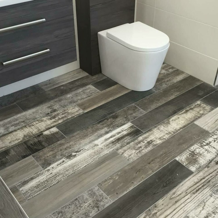Grey Mix Porcelain Tiles 15 x 90 cm