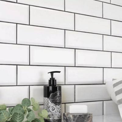 Metro White Wall Tiles Gloss 10 x 30 cm
