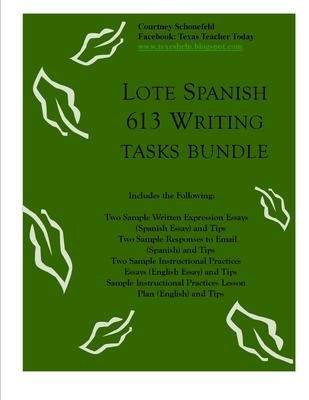LOTE Spanish 613 Writing Tasks Bundle