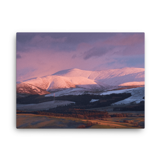 Pink Fells Canvas Print