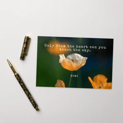 Rumi Postcards from the Heart #2