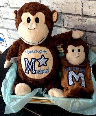 Monkey & Comforter Gift Basket