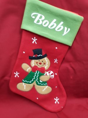 Plush Ginger bread man stocking
