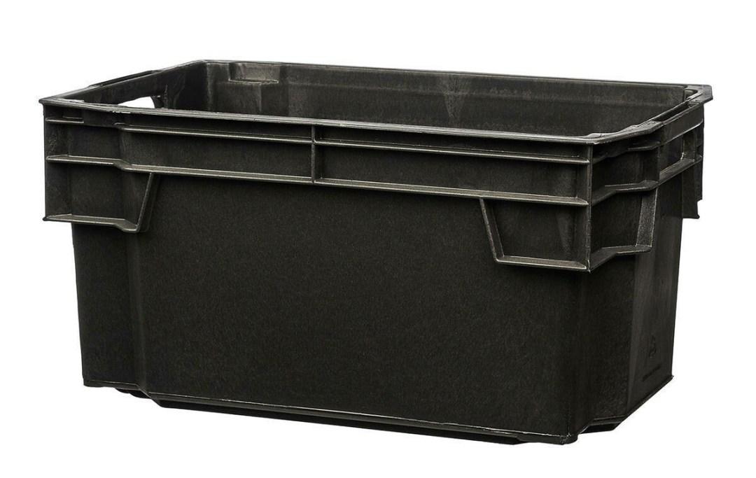 Basic 50l Musta Varastolaatikko