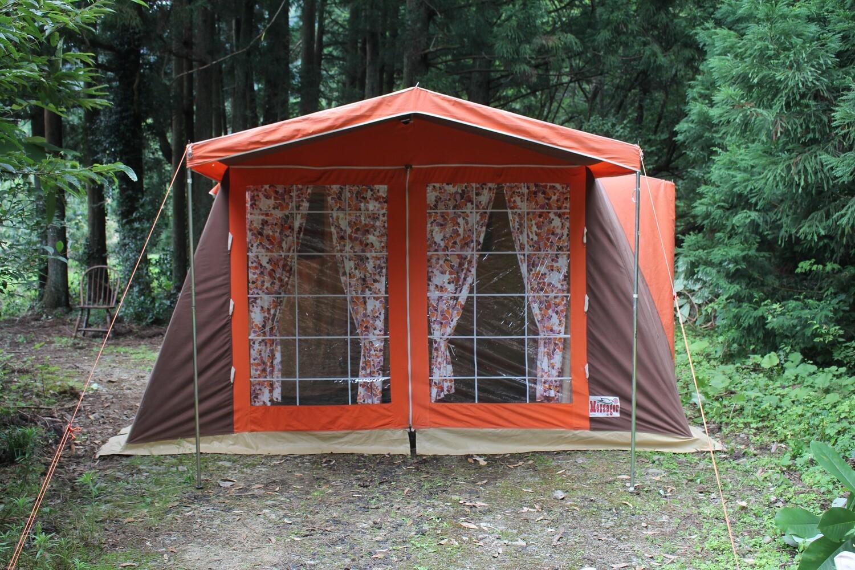 メサージュ(Message)変形ロッジ型テント「フロリッド5 」美品 5人用