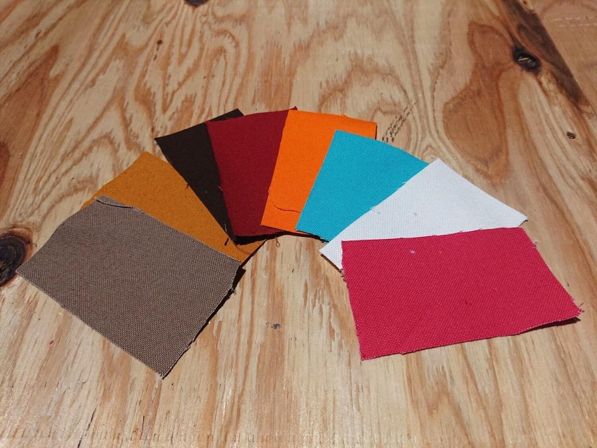 撥水キャンバス 生地サンプル 全色セット 素材や色の確認用