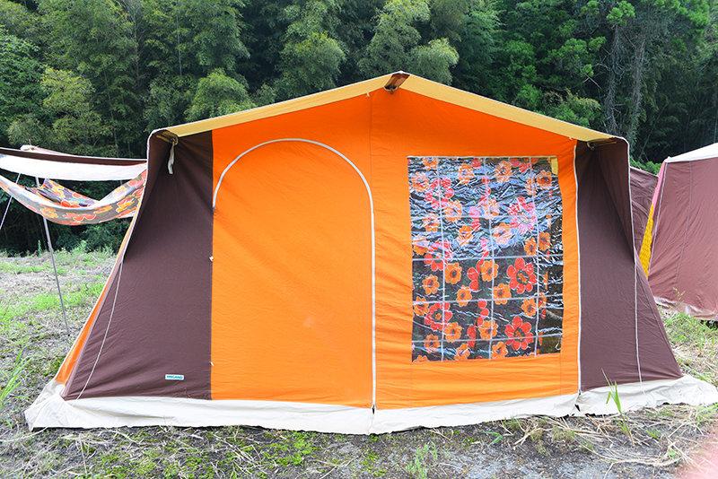 トリガノ ロッジタイプ 6人用 ヴィンテージ幕 フレームテント Tigano Lodge type