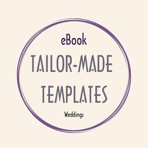 eBook WORD doc TAILOR MADE TEMPLATES weddings