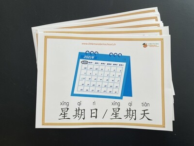 Picture-word cards + video (calendar and daily routines)