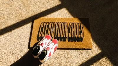 Clean Your Shoes Doormat