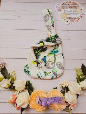 Soar Beautifully & Flourish Reversible Japanese knot bag