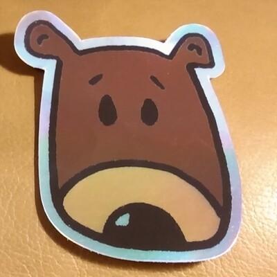 Bear Cartoon Laser Sticker