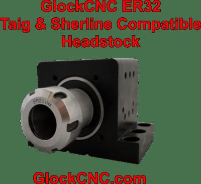 Sherline Taig Lathe-Mill Headstock Upgrade ER32 Spindle