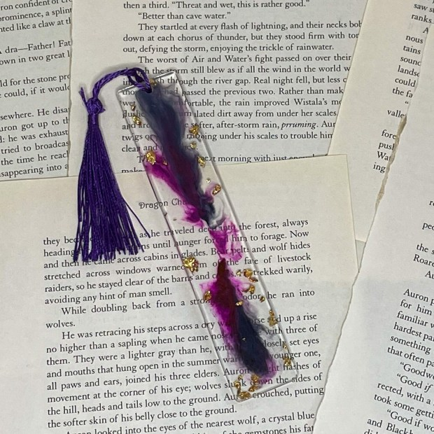 Standard Size Purple and Gold Bookmark