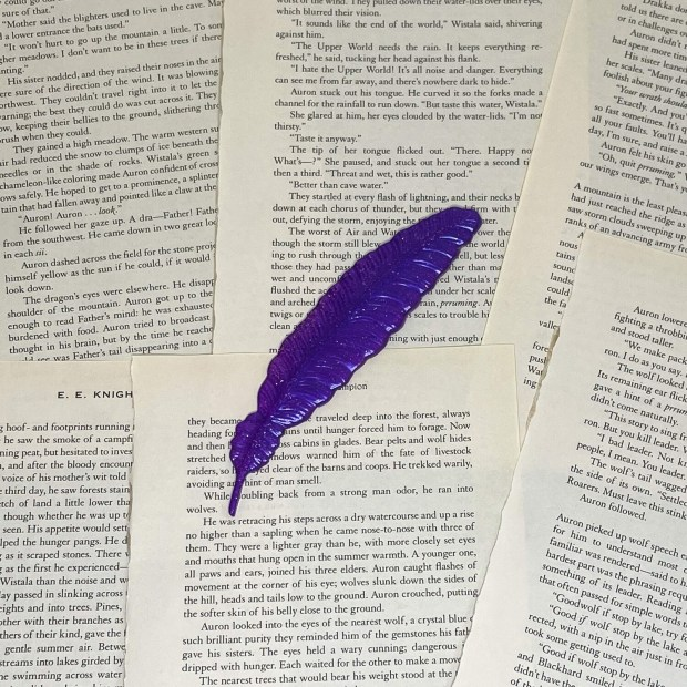 Purple Feather Bookmark