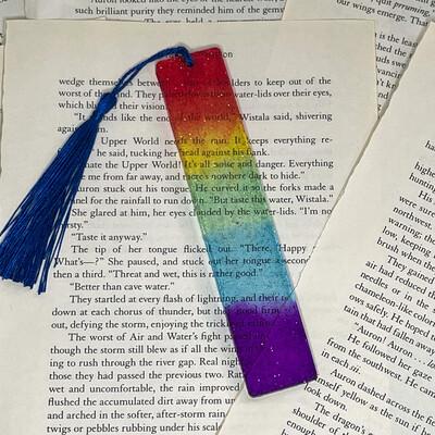 Standard Size Rainbow Bookmark