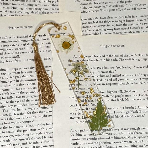 Standard Size Floral Bookmark