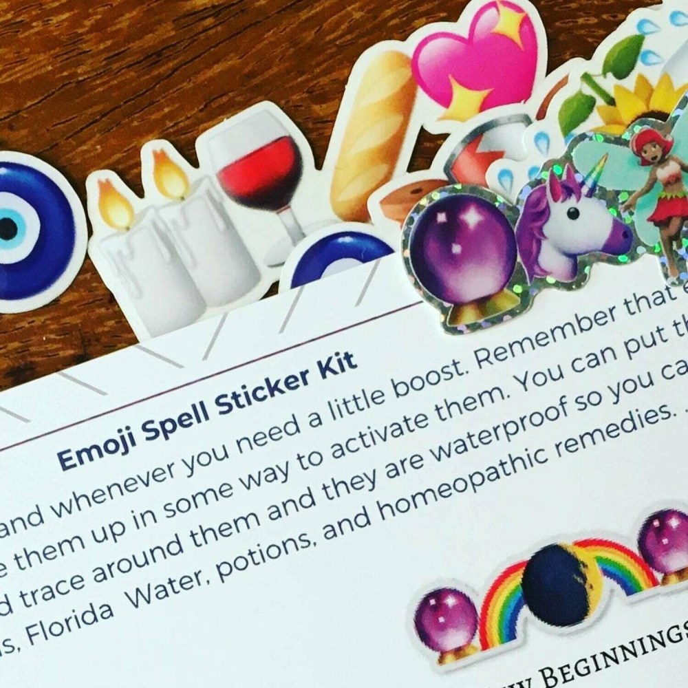 Emoji Spell Sticker Set
