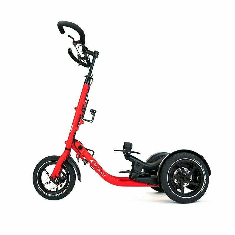 Me-Mover Fit 2.3 - Ruby Red (rot) -                                   Faltbarer 3 Rad Fitness Stepper mit 12 Zoll Bereifung für In- und Outdoor Aktivitäten - Neuware
