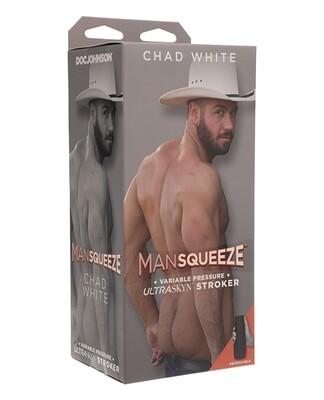 Man Squeeze Ultraskyn Ass Stroker - Chad White