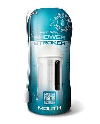 Shower Stroker Vibrating Ass - Clear