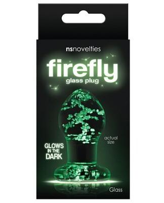 Firefly Clear Glass Plug - Glow