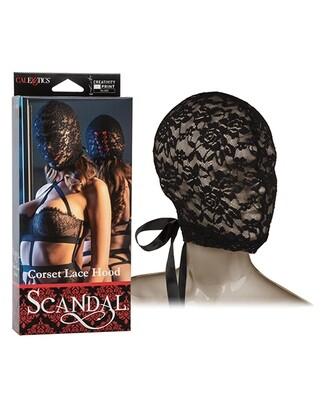 Scandal Corset Lace Hood - Black