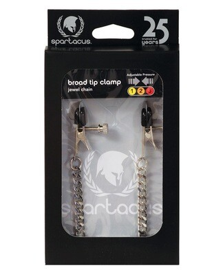 Spartacus Adjustable Broad Tip Clamps - Jewel Chain