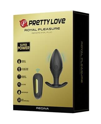 Pretty Love Regina Royal Pleasure Butt Plug - Black/gold