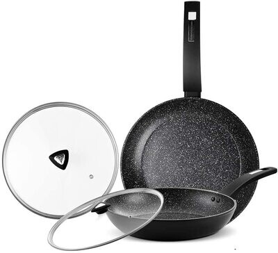 KOCH Pan Set - To purchase this product, please click on the the image. Then, click on the Amazon picture and link below the add to bag button