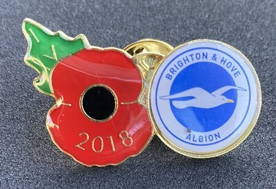 Brighton & Hove Albion FC Poppy Badge 2018 (England)