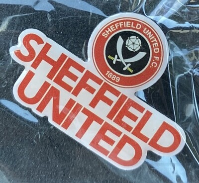 Sheffield United FC (England) Logo and Name Pin Badge 2