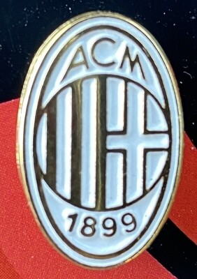 AC Milan (Italy) Logo Pin Badge White and Gold