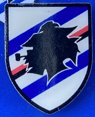 UC Sampdoria (Italy) Logo Pin Badge