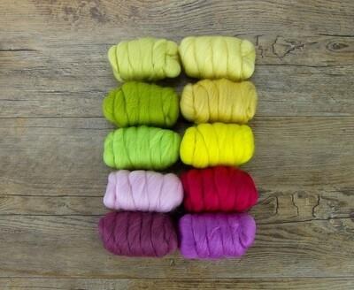 23m Merino 10 Colour Mix Pack - Spring Blossom