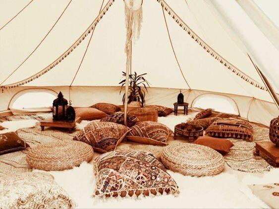 Romantic Boho Bohemian Wedding Party Camping Tent Yurt Belltent Cotton