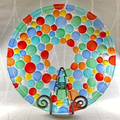 Venetian Glass Plate - Handmade in Italy, Colorful Murano Glass Plate