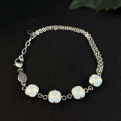 La Vie Parisienne by Catherine Popesco - Cushion Cut Swarovski Crystal Bracelet