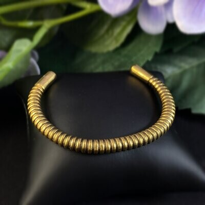 Rook and Crow Handmade Gold Textured Skinny Cuff Bracelet
