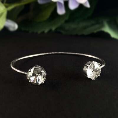 Cushion Cut Swarovski Crystal Bracelet, Clear - La Vie Parisienne by Catherine Popesco