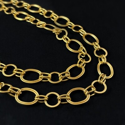 Chunky Gold Chain Necklace - La Vie Parisienne by Catherine Popesco