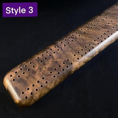 Handmade Wooden Cribbage Board with Pegs - Walnut