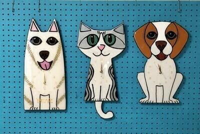 Animal wall clocks.