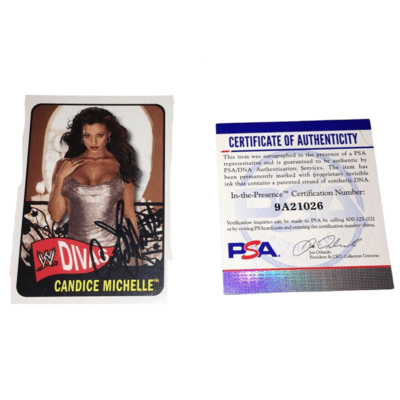 Candice Michelle Autographed 2005 Topps Heritage WWE Wrestling Card PSA/DNA (1)